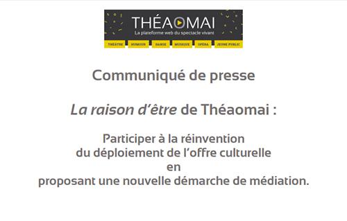Communique Presse Raison D Etre Theaomai